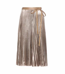 Valentino - Pleated Velvet Skirt