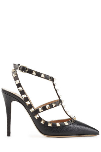 Valentino - Rockstud Leather Pumps - Black