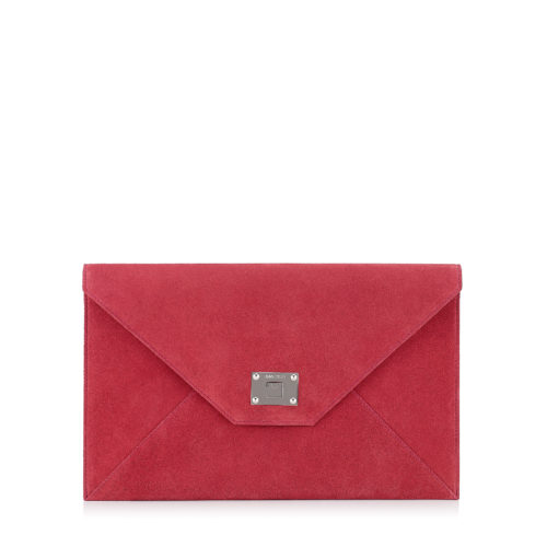 Jimmy Choo - ROSETTA Dahlia Suede Clutch Bag