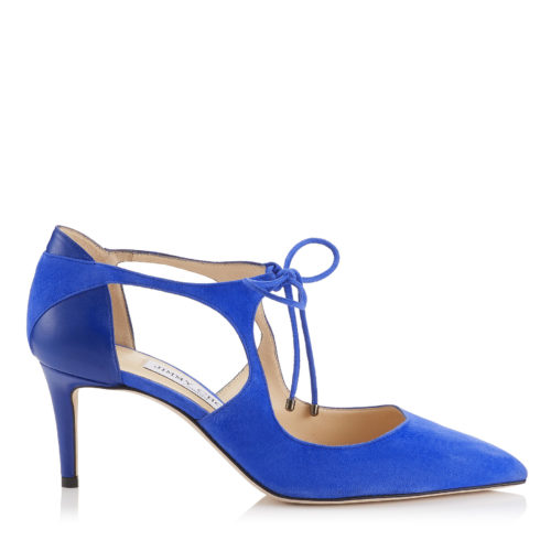 Jimmy Choo - VANESSA 65 Cobalt Suede and Nappa Pointy Toe Pumps