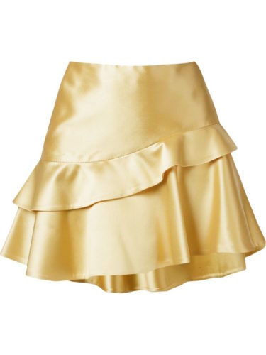 Martha Medeiros - Ruffled Hem Asymmetric Skirt
