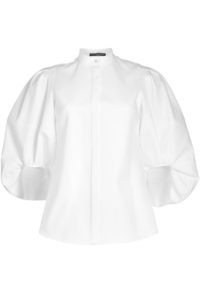 Alexander McQueen - White Shirt with Balloon Sleeves