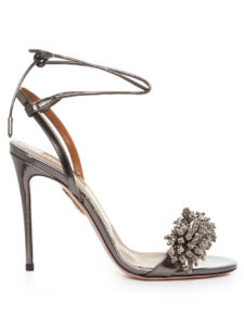 Aquazzura - Monaco Bead-Embellished Leather Sandals