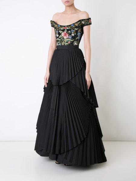 Eavis & Brown - Maxi Pleated Skirt - Black 2