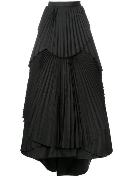 Eavis & Brown - Maxi Pleated Skirt - Black