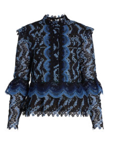 Erdem - Steffi Scallop-Edged Guipure-Lace Blouse