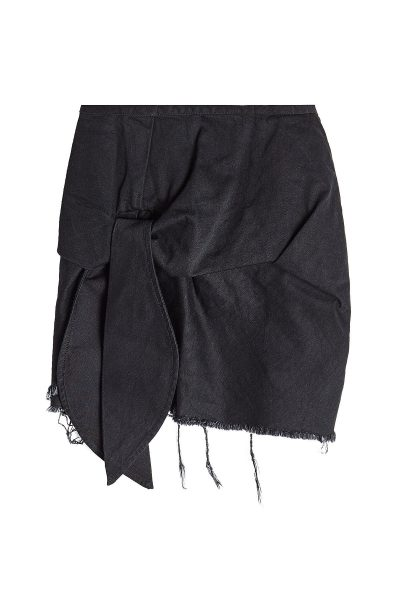 Marques Almeida - Frayed and Knotted Cotton Mini Skirt