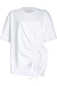 Marques Almeida - Jersey Top with Gathered Side - White