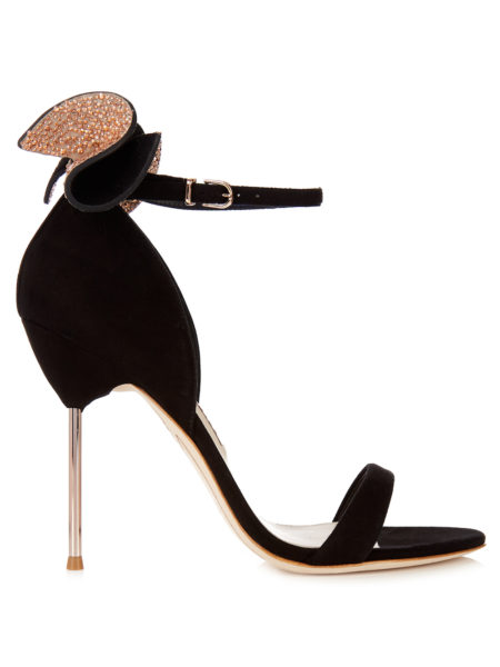 Sophia Webster - Maya Embellished-Bow Suede Sandals - Black