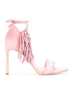 Stuart Weitzman - Pompom Candy Sandals - Pink