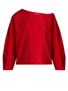 Tibi - Asymmetric Top - Red