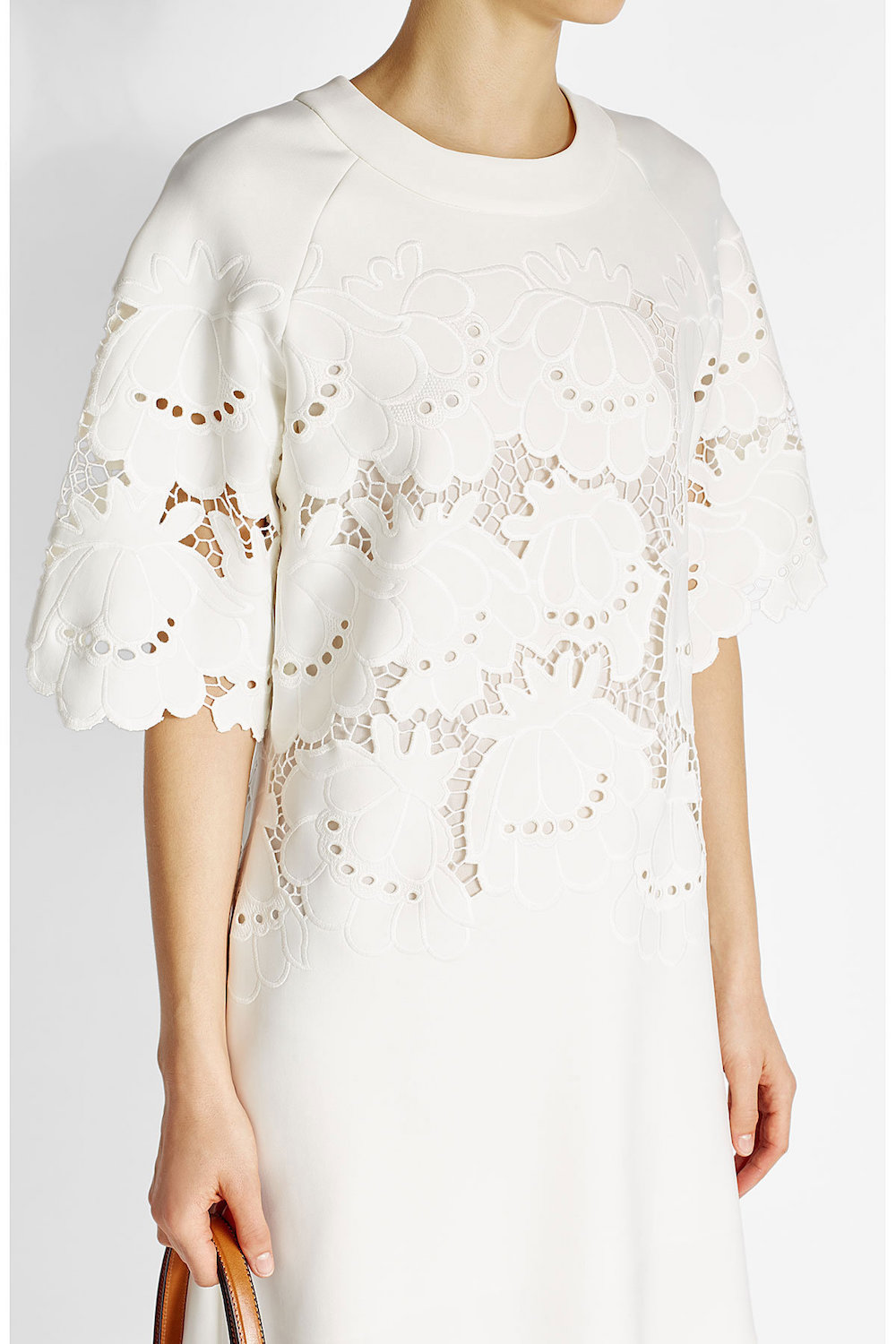 Victoria beckham dress with embroidered cut