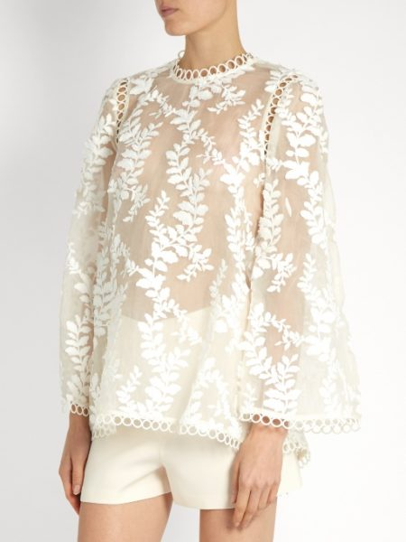 Zimmermann - Winsome Fil Coupe Silk-Organza Blouse 2