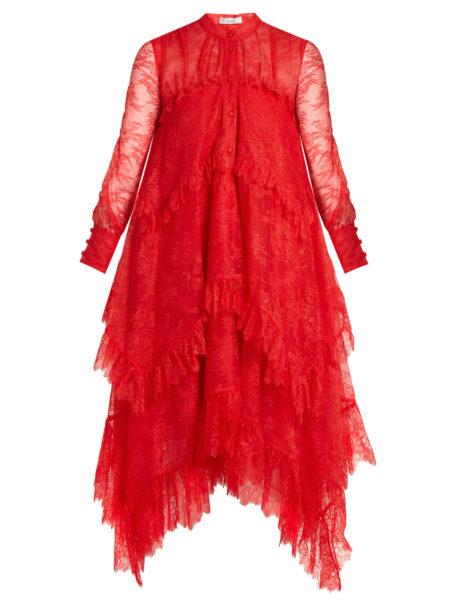 Erdem - Nigella Lace Dress - Red