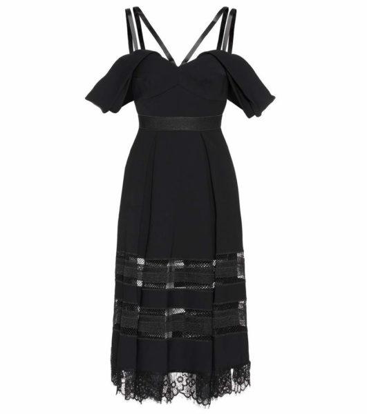 Self-Portrait - Embellished Dress - Black