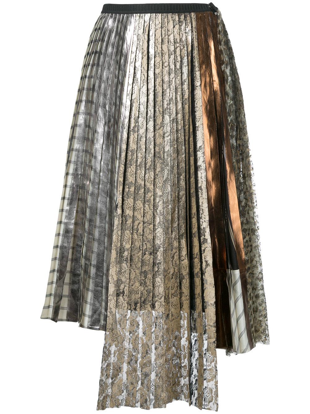 antonio marras lace pleated skirt fashion style fan