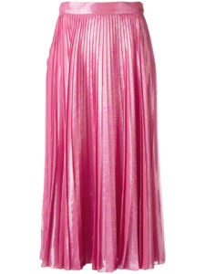 Gucci - Pleated Metallic Skirt - Pink