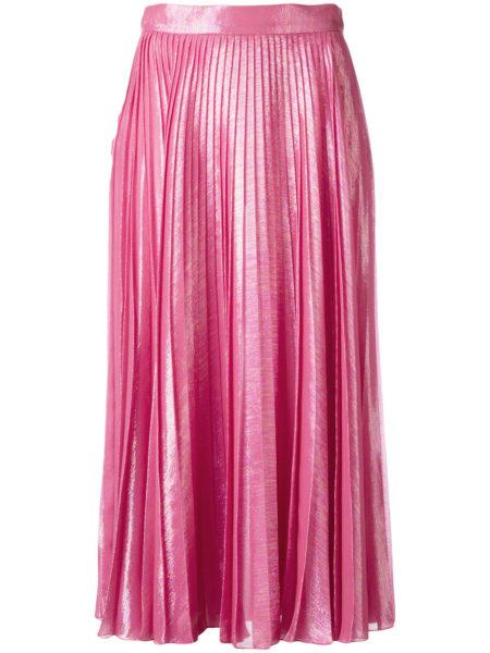 Gucci - Pleated Metallic Skirt - Pink