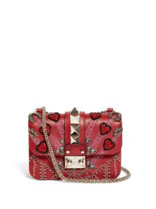 Valentino - Lock Love Blade Cross-Body Bag - Red