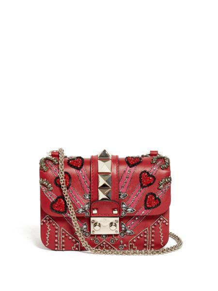 Valentino - Lock Love Blade Cross-Body Bag - Red
