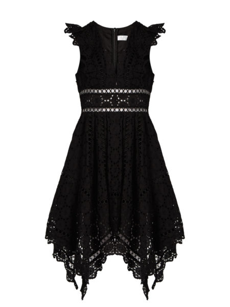 Zimmermann - Divinity Wheel Broderie-Anglaise Dress - Black