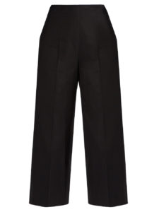 MSGM - Wide-leg Cropped Pants - Black