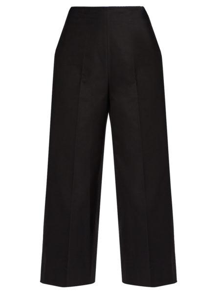 MSGM - Wide-leg Cropped Pants - Black