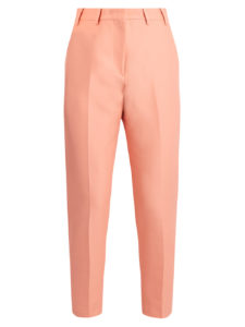 NO. 21 - Cotton Cropped Slim-Leg Pants - Coral