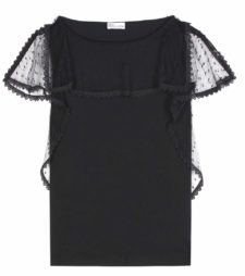 RED Valentino - Cotton Lace Top - Black