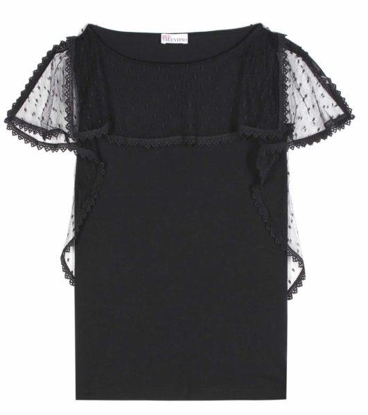 RED Valentino - Cotton Lace Top - Black