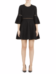 Carven - Bell Sleeve Fit-&-Flare Dress - Black