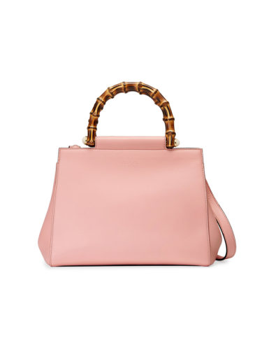 Gucci - Nymphaea Leather Top Handle Bag - Pink