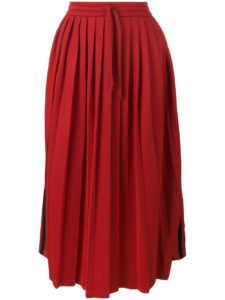 Gucci - Pleated Midi Skirt - Red