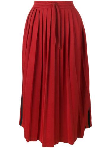 Gucci - Pleated Midi Skirt - Red