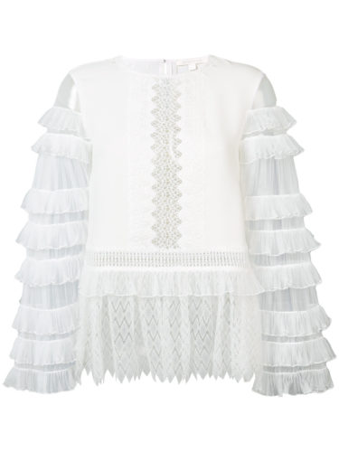 Jonathan Simkhai - Tiered Blouse - White
