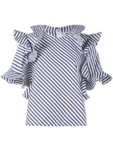 MSGM - Frilled Stripe Blouse