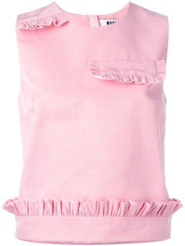 MSGM - Ruffled Detail Tank - Pink