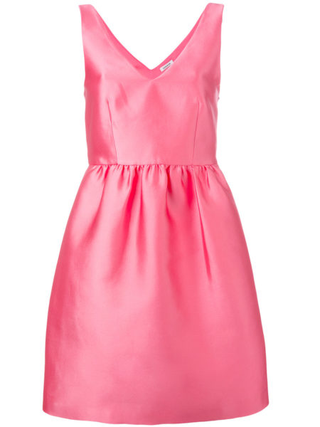P.A.R.O.S.H. V-Neck Sleeveless Mini Dress - Pink