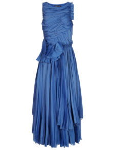 Rochas - Bright Blue Textural Sleeveless Dress