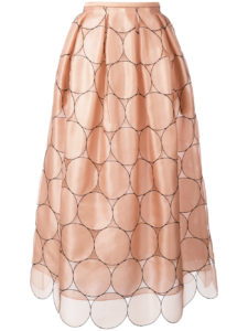 Rochas - Circles Applique Skirt - Pink