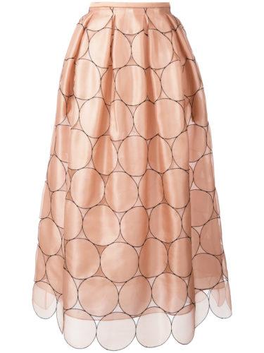 Rochas - Circles Applique Skirt - Pink
