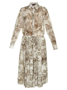 Rochas - Elephant-Print Cotton-Voile Midi Shirtdress