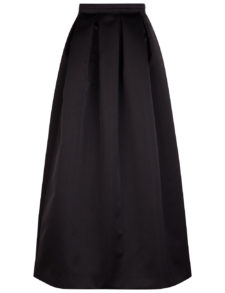 Rochas - Satin Pleated Full Skirt - Black