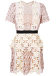 Self-Portrait - Floral Patch Mini Dress - Pink