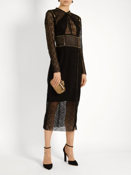 Sophie Theallet - Zip-Detail Guipure-Lace Dress - Black2