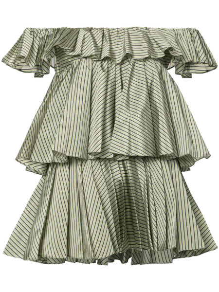 Tome - Striped Frill Detail Blouse