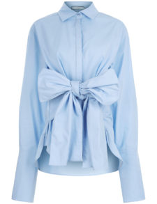 CO-MUN - Sky Blue Tie Front Shirt