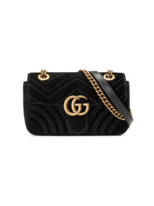 Gucci - GG Marmont Velvet Mini Bag - Black