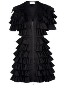 Isa Arfen - All-Over Ruffle Mini Dress - Black