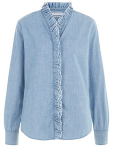 Isabel Marant Etoile - Denim Ruffle Shirt - Light Blue